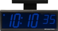 "DuraTime Double Sided 4"" Blue LED Clock"