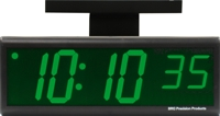 "DuraTime Double Sided 4"" Green LED Clock"
