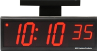 "DuraTime Double Sided 4"" Red LED Clock"