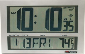 The RCMAR is a battery operated LCD Digital Clock for the DuraTime Synchronized Clock System