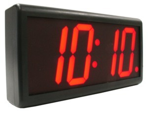 Battery powered digital wall clock red led for Led digital wall clock battery operated